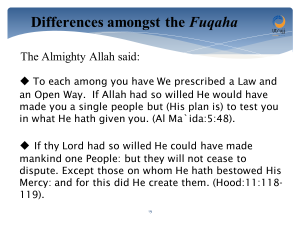 Allah willed for there to be differences