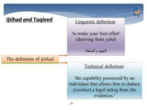 ijtihad and taqleed