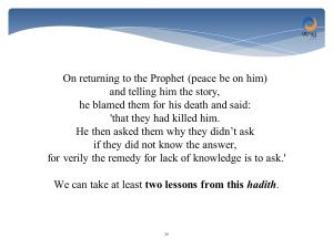 hadith - they killed him