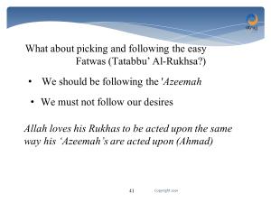 rukhsa and azeemah