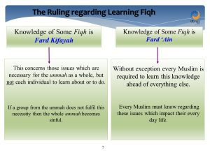 ruling on learning fiqh