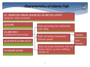 Characteristics of Fiqh