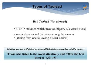 bigotry and bad taqleed